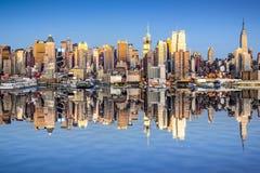 New York City View. New York City, USA city skyline of Midtown Manhattan Royalty Free Stock Image