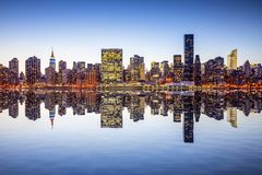 New York City View. New York City, USA city skyline of midtown Manhattan from across the East River Stock Photo