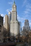 New York city view with Woolworth Building Stock Photos