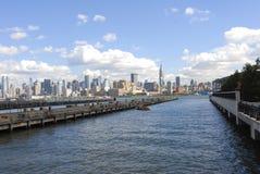 New York City von Hoboken lizenzfreie stockfotografie