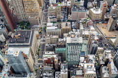 New York City von oben Lizenzfreies Stockbild