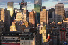 New York City vor den Sonnensätzen Stockfotografie
