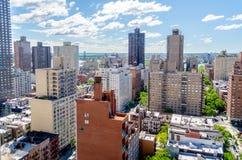 New York City, vue aérienne Images libres de droits