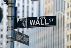 New York City Wall Street Imagem de Stock