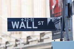 New York City Wall Street Imagen de archivo libre de regalías