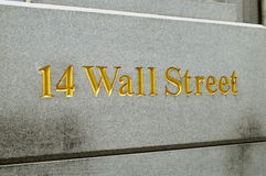 New York city Wall street and stock exchange royalty free stock photography