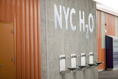 New York City Water Fountains Stock Images