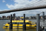 New York City Water Taxi at Fulton Ferry  Landing Stock Photos