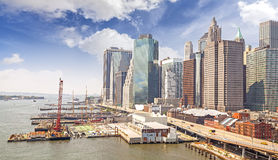 New York City waterfront, USA Royalty Free Stock Photography