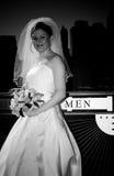 New York City wedding. Bride in New York Stock Photo