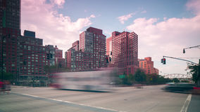 New york city west side traffic road 4k time lapse stock video footage
