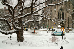 Winter New York City USA Stock Image