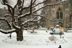 Winter New York City USA stock image