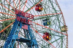 Wonder Wheel, Coney Island stock photos