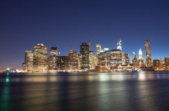 New York City - Wonderful summer sunset view of Lower Manhattan Stock Image
