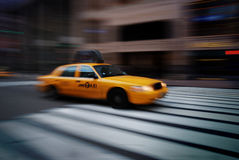 New York City Yellow Cab Stock Photos