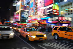 New York City yellow cab Royalty Free Stock Image