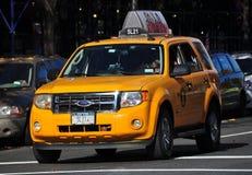 New York City: Yellow Medallion Taxi Stock Image