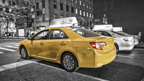 New York City Yellow Taxi, Blur focus motion Stock Photography