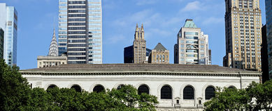 New- York Citybibliotheks-Panorama Stockbilder