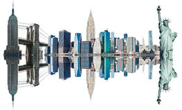 New- York Citygrenzsteine, USA. Lizenzfreies Stockfoto
