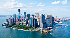 New- York Cityhimmel-Ansicht Stockfotos