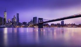 New- York Cityleuchten Stockfotografie