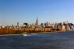 New- York Citymidtown von fern Stockbild