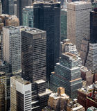 New York cityscape birds eye view Royalty Free Stock Photos