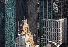 New York cityscape birds eye view Stock Images