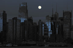 New york cityscape in black and blue Royalty Free Stock Photography