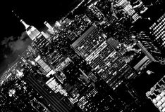 New York Cityscape. A black and white New York Cityscape Royalty Free Stock Photos
