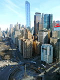 New York cityscape at Columbus Circle, NYC. Royalty Free Stock Photos