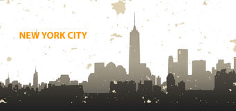 New York cityscape on grunge background Royalty Free Stock Photography