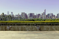 New York cityscape from the met Royalty Free Stock Images