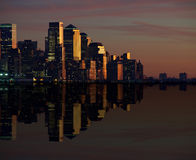 New york cityscape skyline at night, nyc, usa Stock Photography