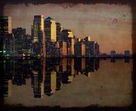 New york cityscape skyline at night, nyc, usa Stock Photo