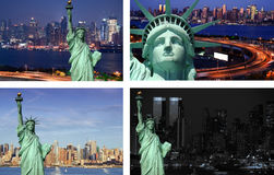 New york cityscape state liberty tourism concept Stock Photography