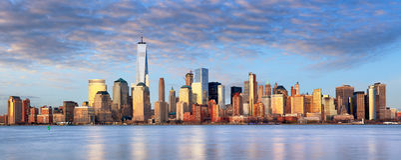New York cityscape, USA arkivbild