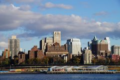 New York cityscape. View of Brooklyn from Manhattan Royalty Free Stock Image