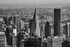 New York cityscape. A view from the Empire State Building stock photography