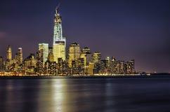 New- York CitySkyline nachts stockfotografie