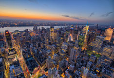 New- York CitySkyline am Sonnenuntergang Stockfoto