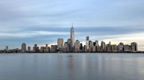 New- York Cityskyline von New-Jersey Stockfotos
