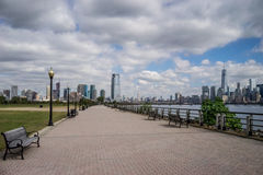 New- York Cityskylineform Jersey-Nationalpark Stockfotografie