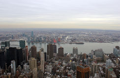 New- York Cityskylinelandschaft Stockbilder