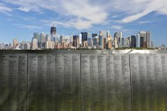 New- York Cityskylinepanorama 9/11 stockbild