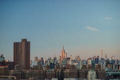 New- York Citystadtmitte mit Empire State Building bei Sonnenuntergang lizenzfreies stockbild