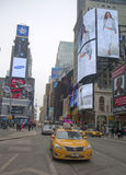 New- York Citytaxi am Times Square in Manhattan Lizenzfreie Stockbilder