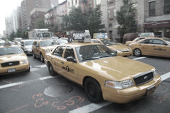 New- York Citytaxis stockbilder